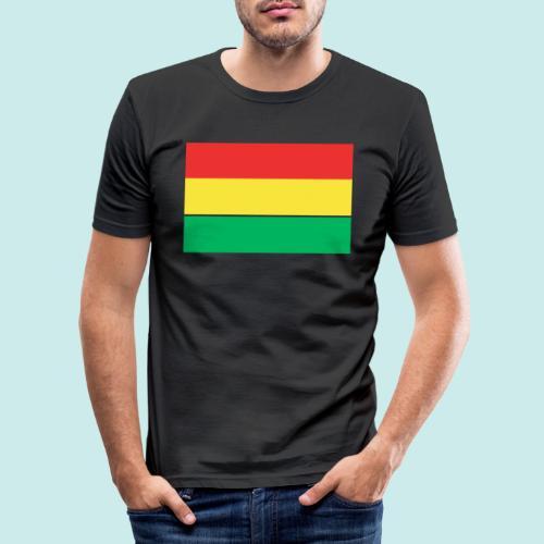 ROOD GEEL GROEN CARNAVAL - Mannen slim fit T-shirt