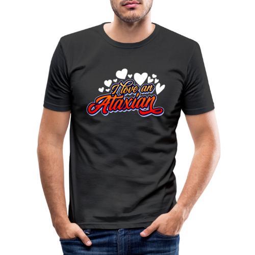 Jeg elsker en ataksisk - Slim Fit T-skjorte for menn