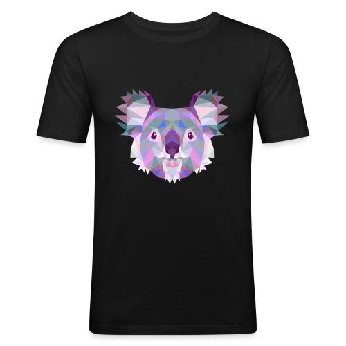 Triangle vector koala - Maglietta aderente da uomo
