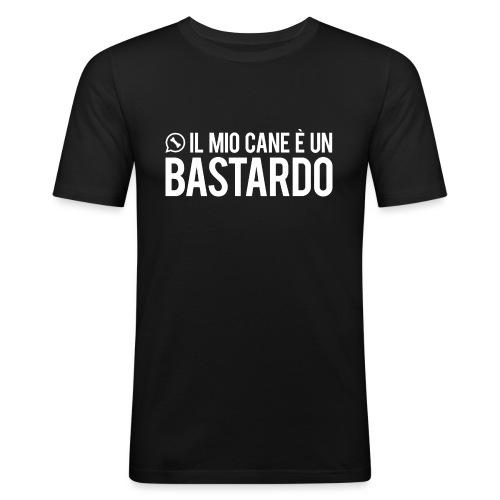 T-shirt / Il mio cane è un bastardo - Maglietta aderente da uomo