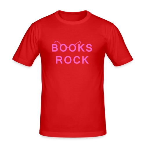 Books Rock Pink - Men's Slim Fit T-Shirt