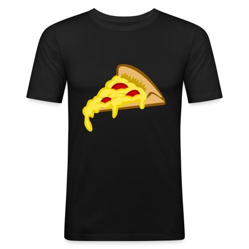 If it fits my macros Pizza - Mannen slim fit T-shirt