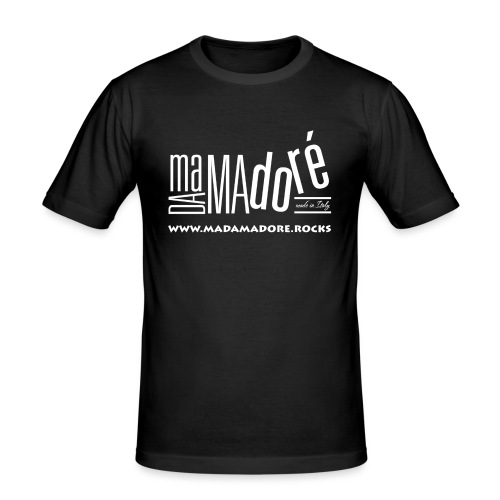 T-Shirt Premium - Uomo - Logo Bianco S + Sito - Maglietta aderente da uomo