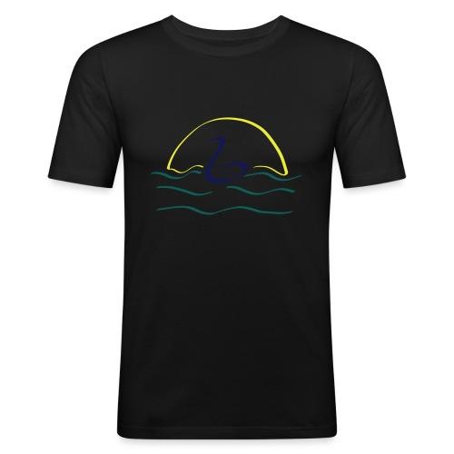 Swan - Mannen slim fit T-shirt