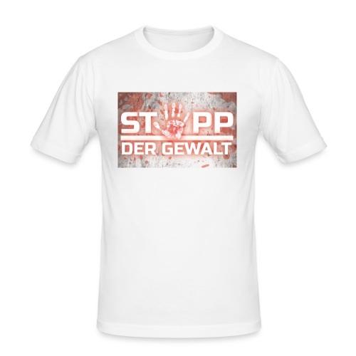 STOPP DER GEWALT - Men's Slim Fit T-Shirt