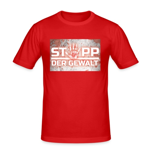 STOPP DER GEWALT - Men's Slim Fit T-Shirt