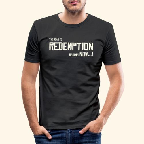 Wild West Game Text Design - Men's Slim Fit T-Shirt