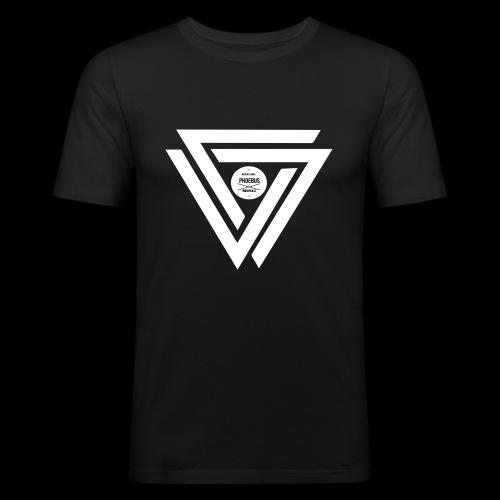 08 logo complet withe - T-shirt près du corps Homme
