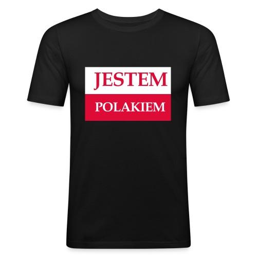 Jestem Polakiem - Obcisła koszulka męska
