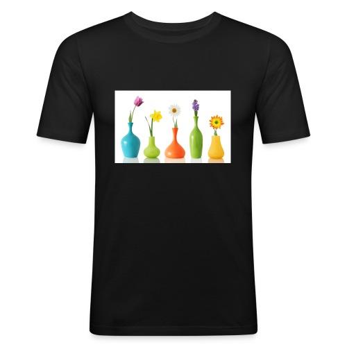 bloempotje - Mannen slim fit T-shirt