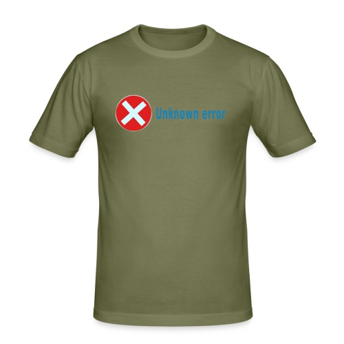 Unkown Error - Miesten tyköistuva t-paita