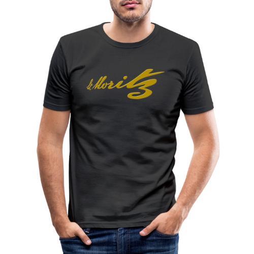 St. Moritz Schweiz Souvenir - Männer Slim Fit T-Shirt