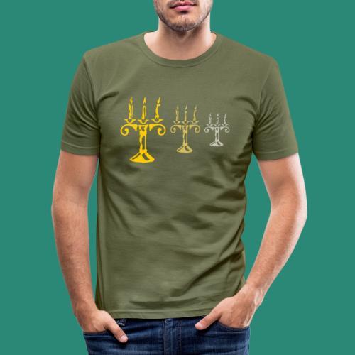 edles Kerzenlicht - Männer Slim Fit T-Shirt