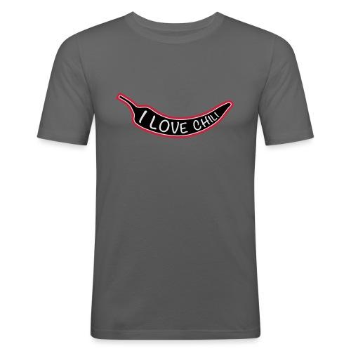 I love chili - Miesten tyköistuva t-paita