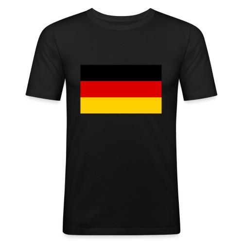 2000px Flag of Germany svg - Männer Slim Fit T-Shirt