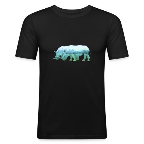RHINOS, DIE NASHÖRNER IN DEN ALPEN - Männer Slim Fit T-Shirt