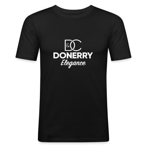 Donerry Elegance NEW White on Dark - Men's Slim Fit T-Shirt