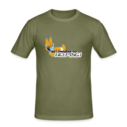 Set Phasers to Helping - Men's Slim Fit T-Shirt