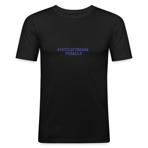 #jatilspinraza - blå - Slim Fit T-skjorte for menn