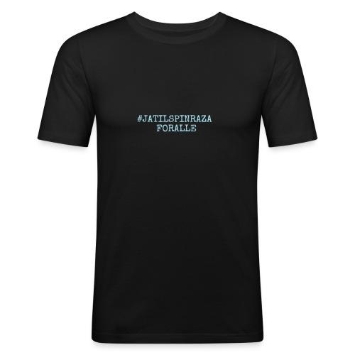 #jatilspinrazaforalle - lysblå - Slim Fit T-skjorte for menn