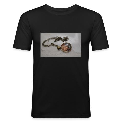 steampunk_collar - Camiseta ajustada hombre
