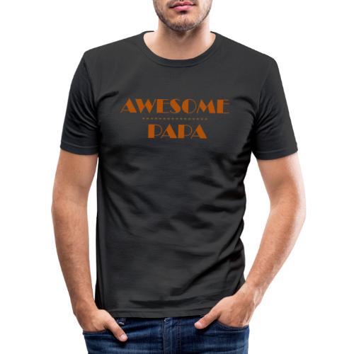 awesome papa 1 - Men's Slim Fit T-Shirt