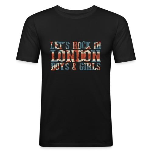 LET'S ROCK IN LONDON - Maglietta aderente da uomo