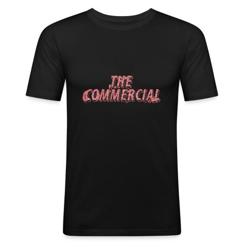 The Commercial #2 (Salmon Long Strokes) - Men's Slim Fit T-Shirt
