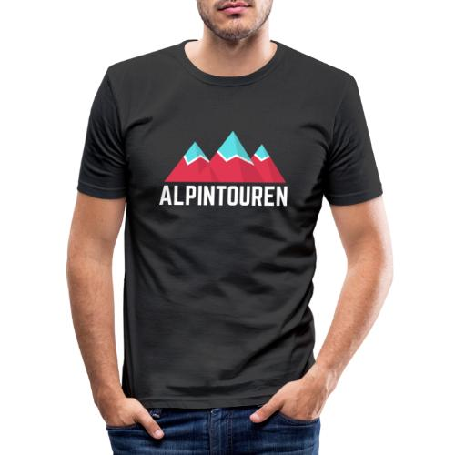 Alpintouren Logo - Männer Slim Fit T-Shirt