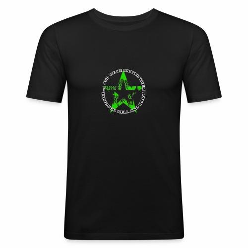 ra star slogan slime png - Männer Slim Fit T-Shirt