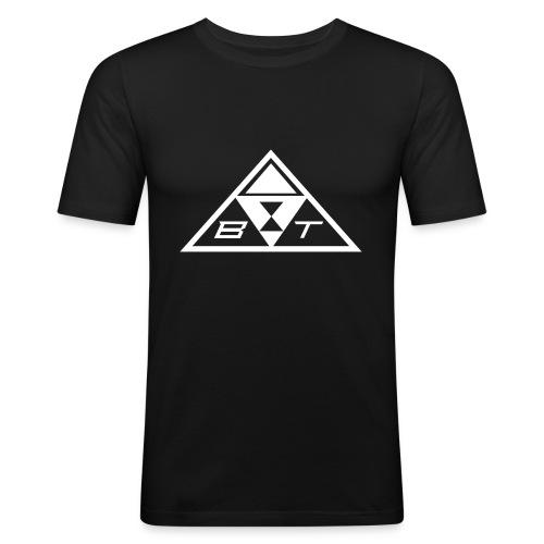 felpa con logo bianco - Maglietta aderente da uomo