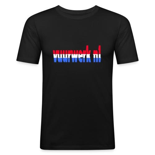 vuurwerk nl fan kleding - Mannen slim fit T-shirt