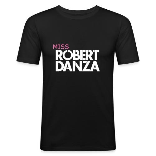cap_logo_roze_miss_wit_copy - Mannen slim fit T-shirt