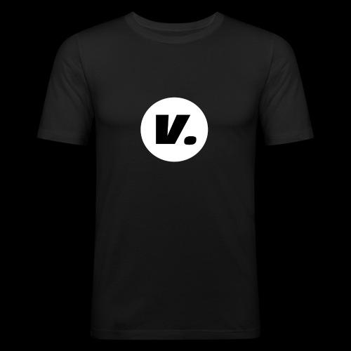 Ventura Black V Logo - Mannen slim fit T-shirt