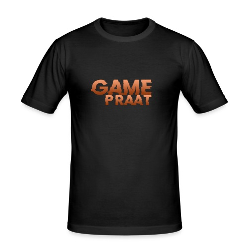 GamePraat Logo Oranje - Mannen slim fit T-shirt