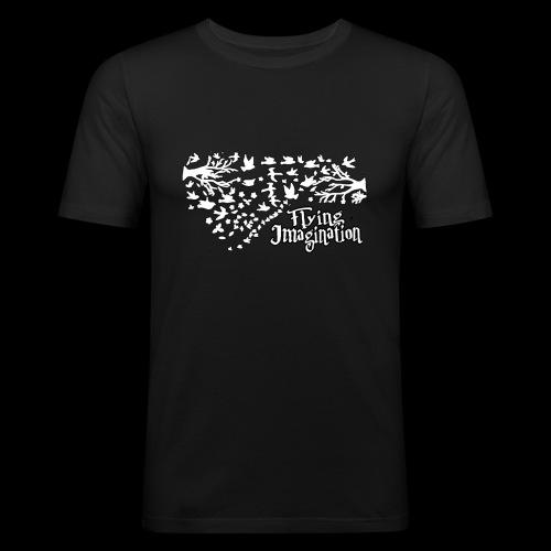 Flying imagination white - Camiseta ajustada hombre
