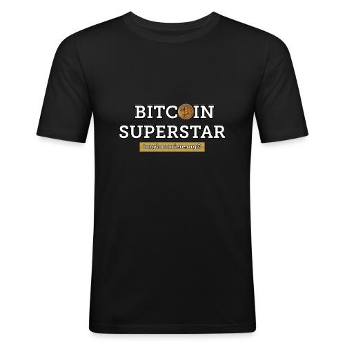 bitcoin superstar - Maglietta aderente da uomo
