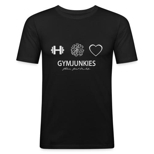 -Fitness, Food & Love- tasje - Mannen slim fit T-shirt
