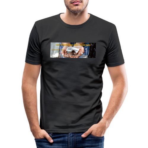 BIW-Cover - Mannen slim fit T-shirt