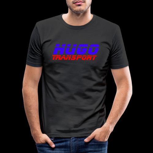 hugotransportfullrestransparent - Mannen slim fit T-shirt