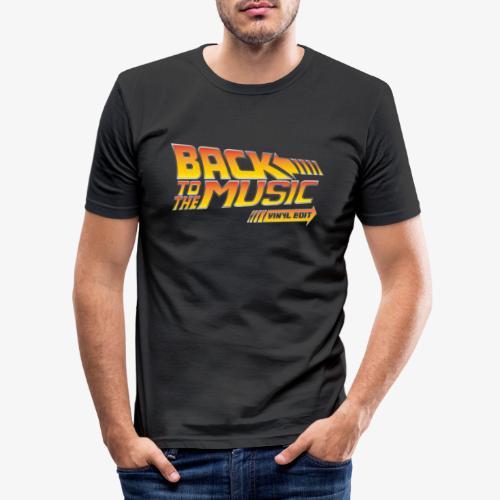 Back to the music Vinyl Edit - T-shirt près du corps Homme