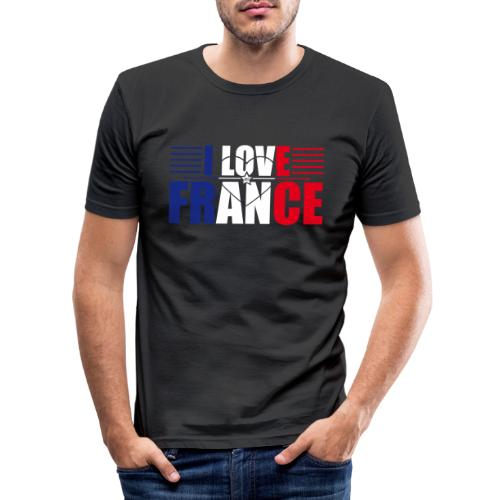 love france - T-shirt près du corps Homme