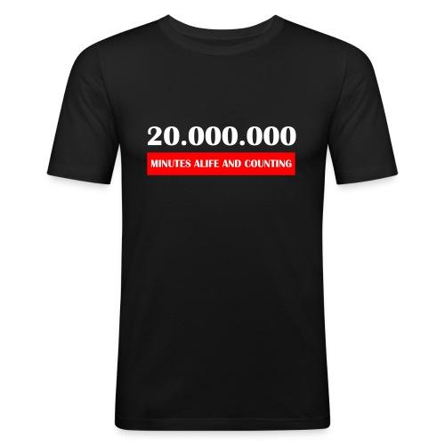 200000 Minutes Alive - Mannen slim fit T-shirt