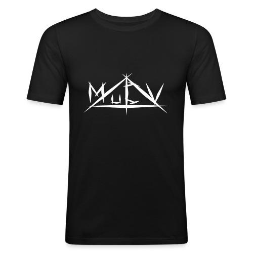 MuCV Logo SW - Männer Slim Fit T-Shirt