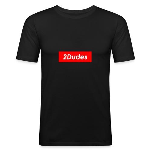 2Dudes Box Logo - Men's Slim Fit T-Shirt