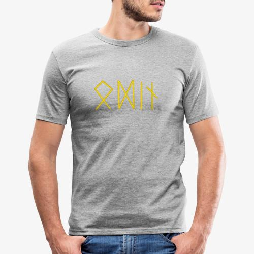 Odin in Runen - Männer Slim Fit T-Shirt