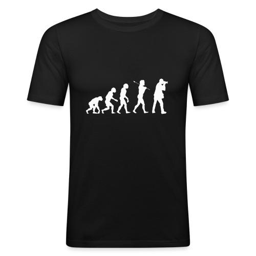 evolution white - Maglietta aderente da uomo