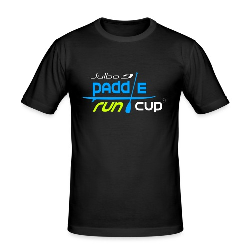 SPREADSHIRT_Logos_Paddle_Run_v3_-3- - T-shirt près du corps Homme