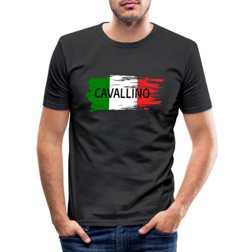 Cavallino auf Flagge - Männer Slim Fit T-Shirt