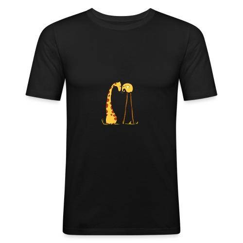 Maglietta San Valentino Tenera | con Animali - Maglietta aderente da uomo